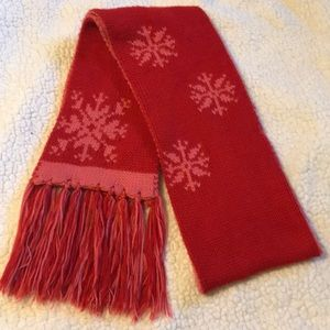 {new york & company} Red and Pink Winter Scarf